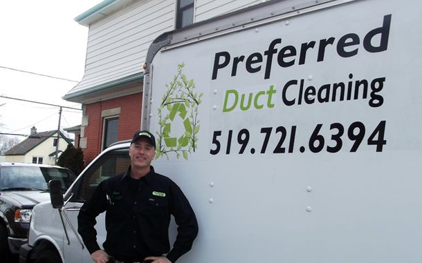 Preferred Duct Cleaning truck